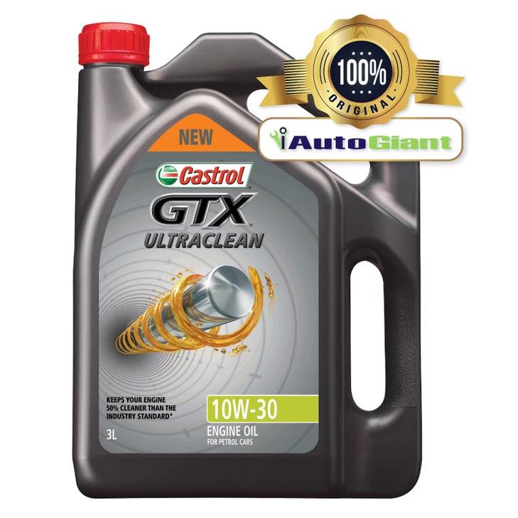 Castrol GTX ULTRACLEAN 10W-30 SN/CF for Petrol and Diesel Vehicles (3L) (100% ORIGINAL)