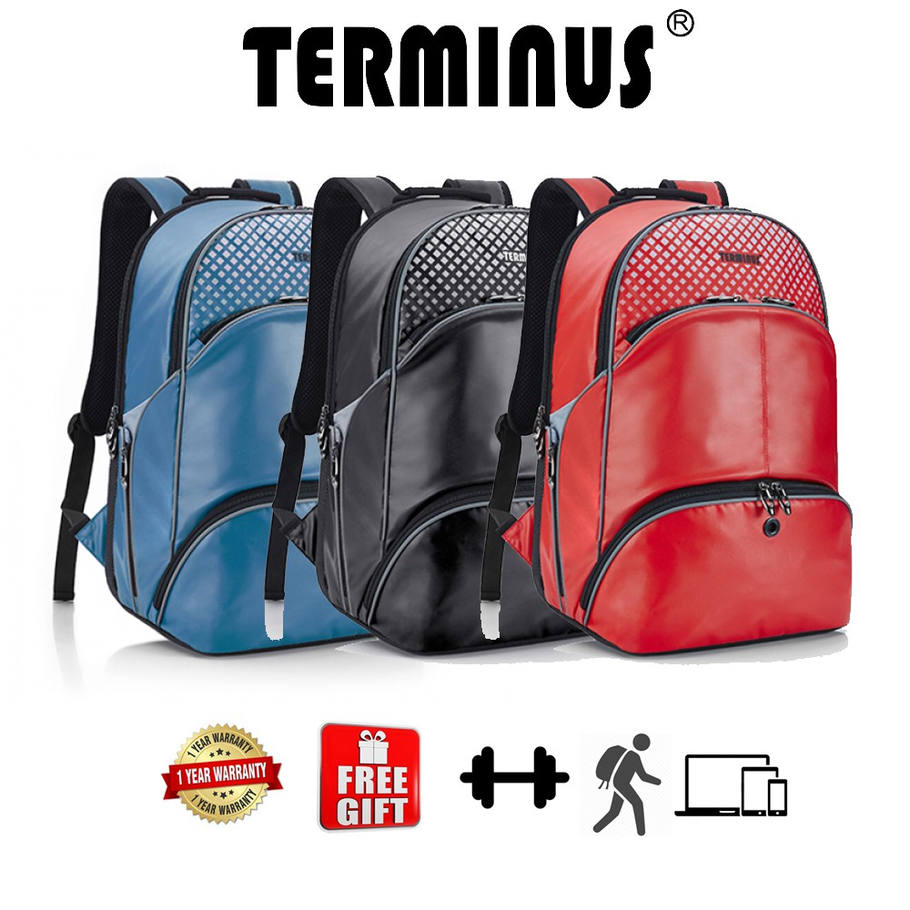 8e639ae2b12d TERMINUS Gym Ace Gym Bag Backpack - BLACK   RED   BLUE