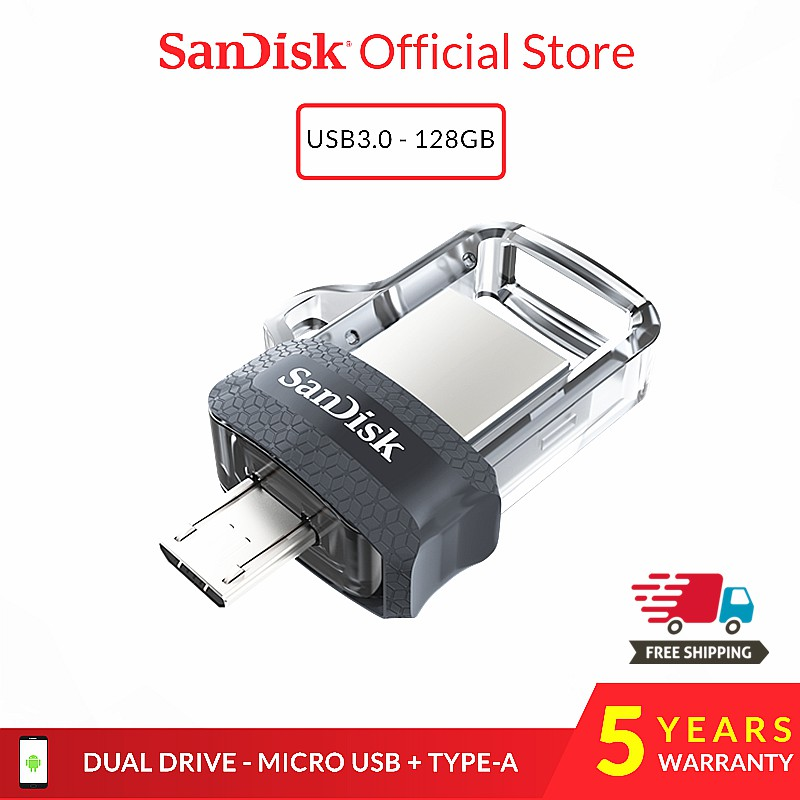 SanDisk Ultra 64GB USB 3.0 OTG Flash Drive With micro USB connector For Andro...
