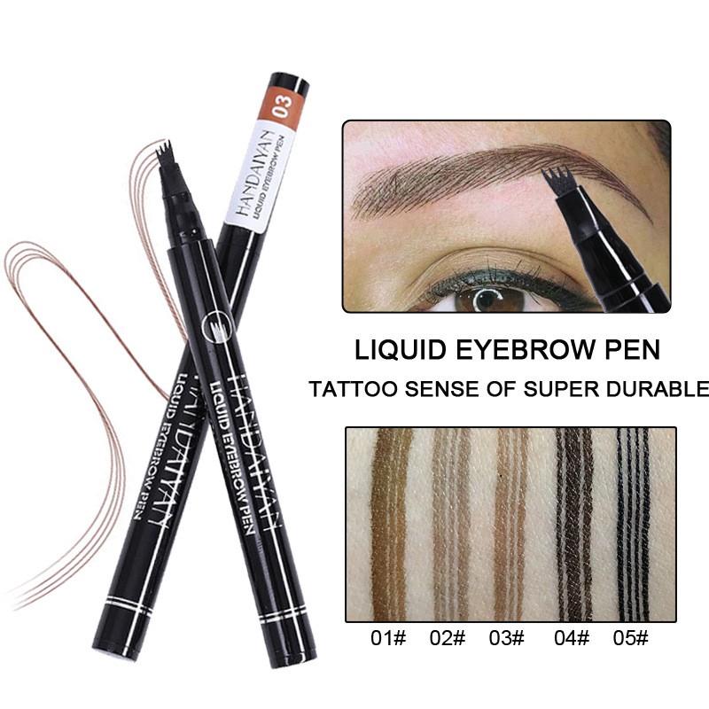 ba2f8fec597 Eyebrow Tattoo Pen Waterproof Fork Tip Patented Microblading Makeup Ink  Sketch