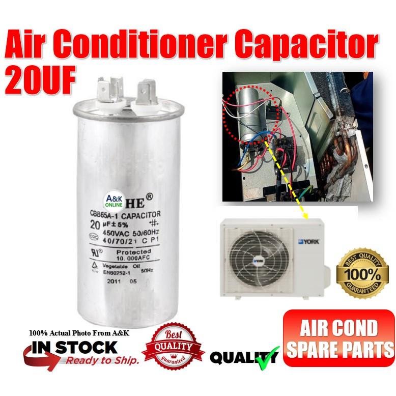 Air Conditioning Capacitor / Machine 20uf Capacitor Sharp/Daikin