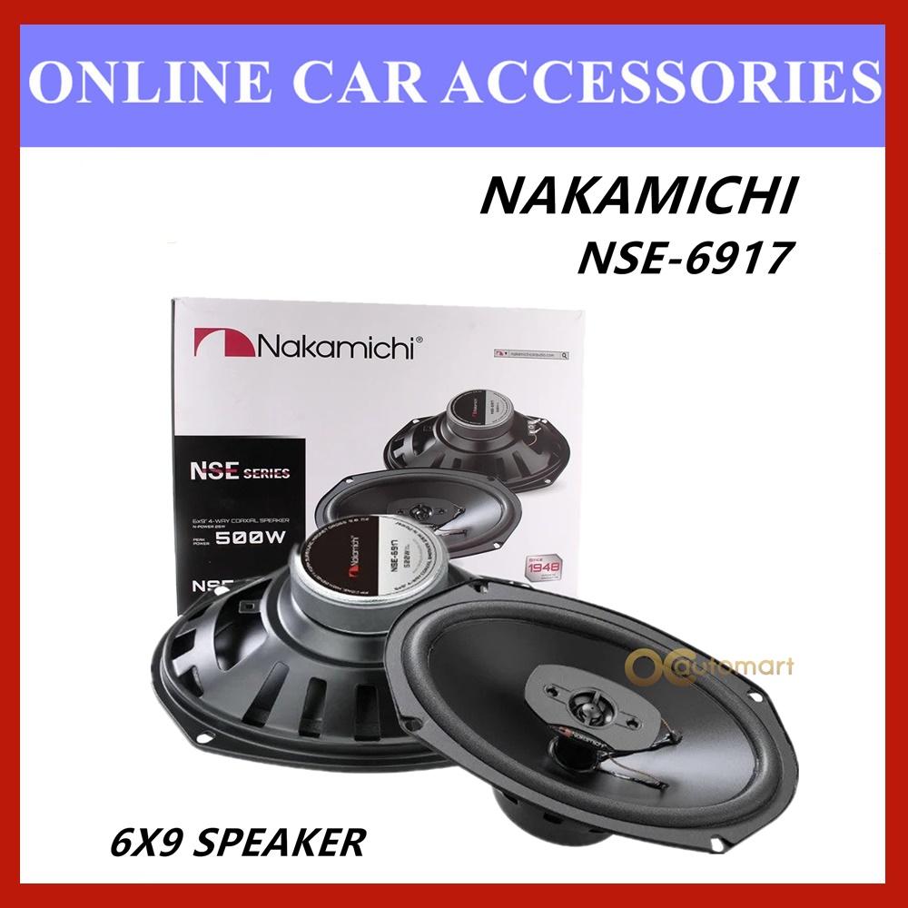 """Nakamichi 6 x 9"""" 4 Way Coaxial Car Speaker 500 Watt Peak Power NSE-6917"""