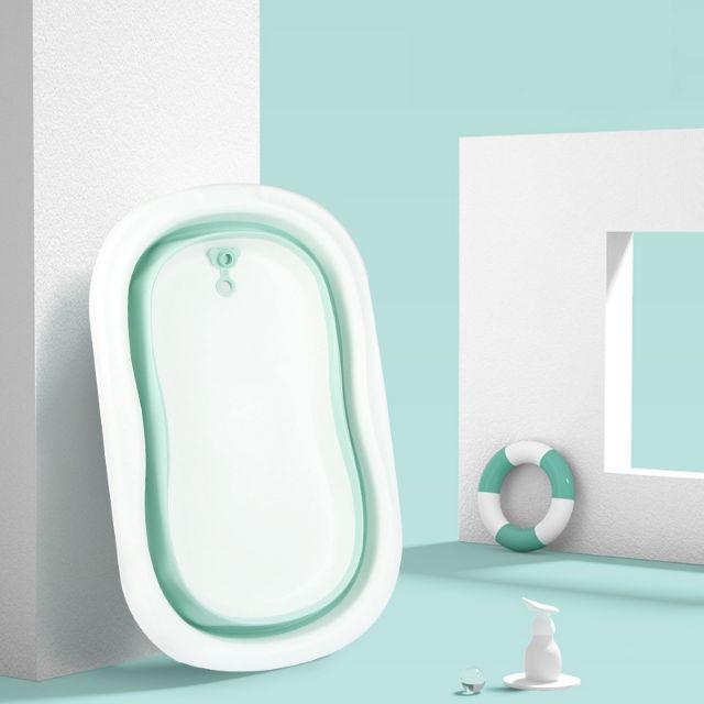 [ READY STOCK ]  Newborn Baby Easy Folding Baby Bath Tub Eco Friendly Adjustable Bathtub Mandi Pale Jualan Murah Toilet