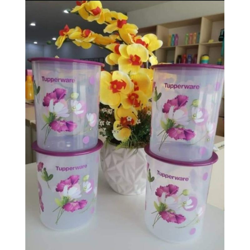 Tupperware royale bloom one touch canister all size