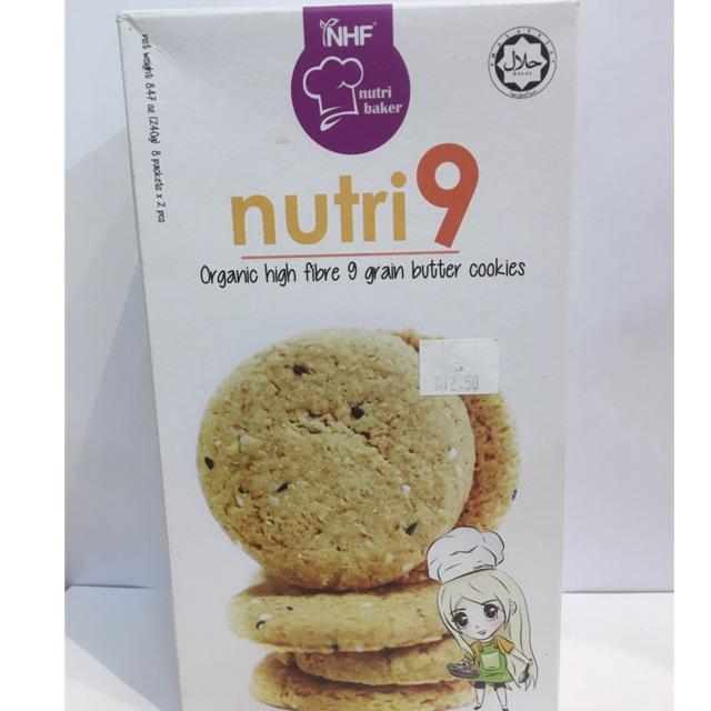 Nutri 9 Organic High Fiber 9 Grain Butter Cookie