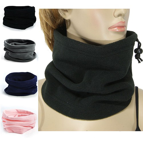 1e77d6f63 4 In 1 Winter Sports Thermal Fleece Scarf Snood Neck Warmer Face Mask  Beanie Hat