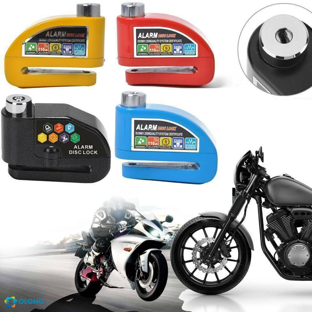 Anti-Theft Wheel Disc Brake Lock with Security Alarm for Motorcycle Bicycle