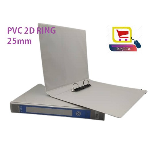 *CLEARENCE* Alba rado 25mm / 40mm PVC 2D Ring File A4 Insert Binder AB252D/AB402D White PRICE IN PCS