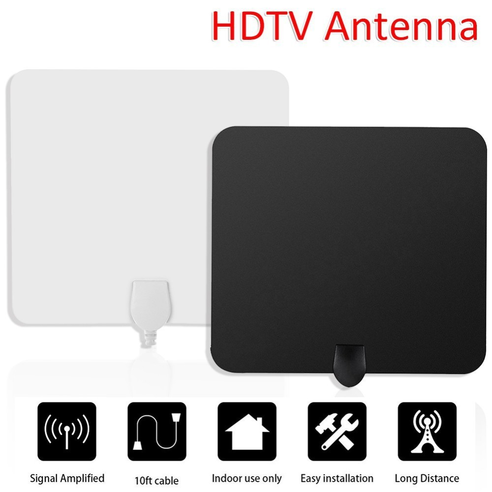 TV Antenna Indoor HD Digital TV Antenna Amplifier Signal Over HDTV  Broadcast 10FT Cable Digital Antenna