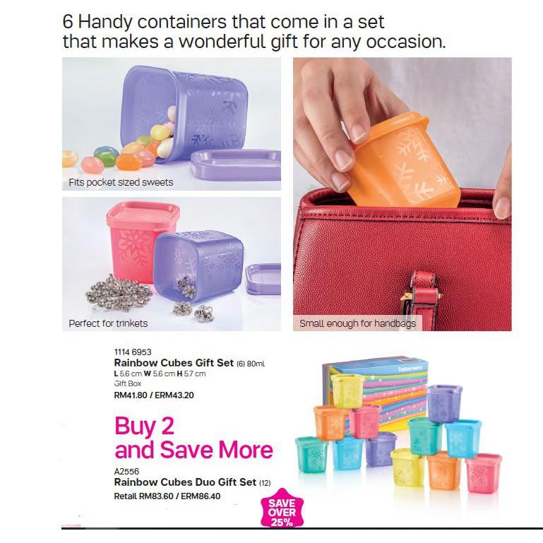Tupperware Rainbow Cubes Gift Set 80ml