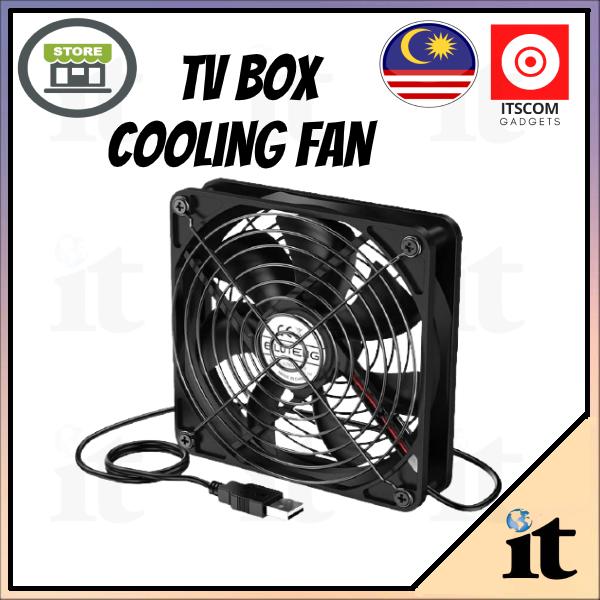 TVBOX USB MINI COOLING FAN ( IMPROVE Tvbox Performance) USB Cooling Fan 5V mini mute large wind chassis Router cool 5.0