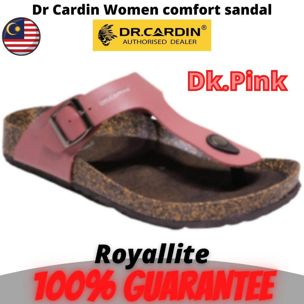 DR CARDIN SIGNATURE WOMEN COMFORT SANDAL ( BSA-1328 ) Dk Pink & Black