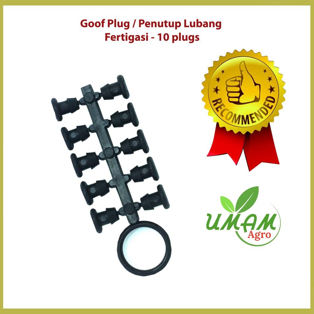 Goof Plug / Penutup Lubang Fertigasi - 10 plugs
