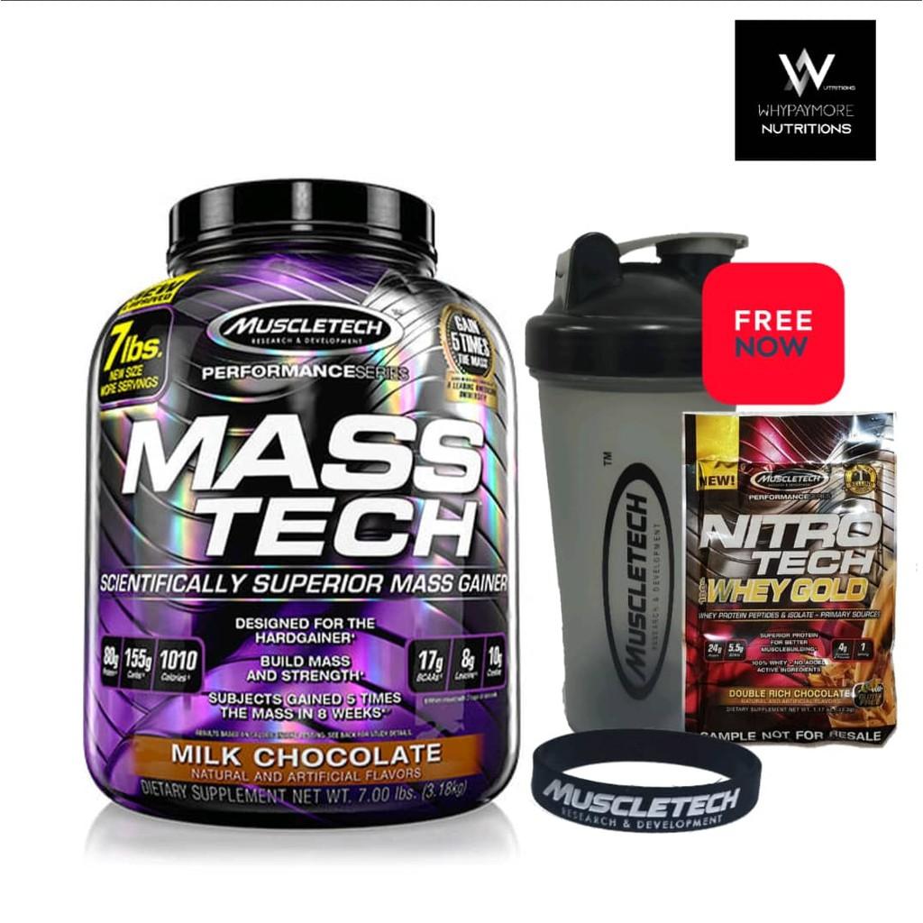 MuscleTech Mass Tech 7lbs - Lean Weight Gainer MassTech Muscle Gainer High Protein Gainer