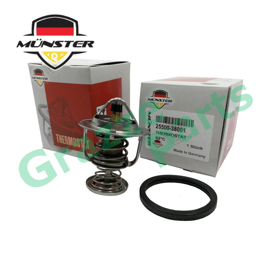Münster Coolant Thermostat + Sealing Ring for 25500-38001 HY Sonata 5 Traject