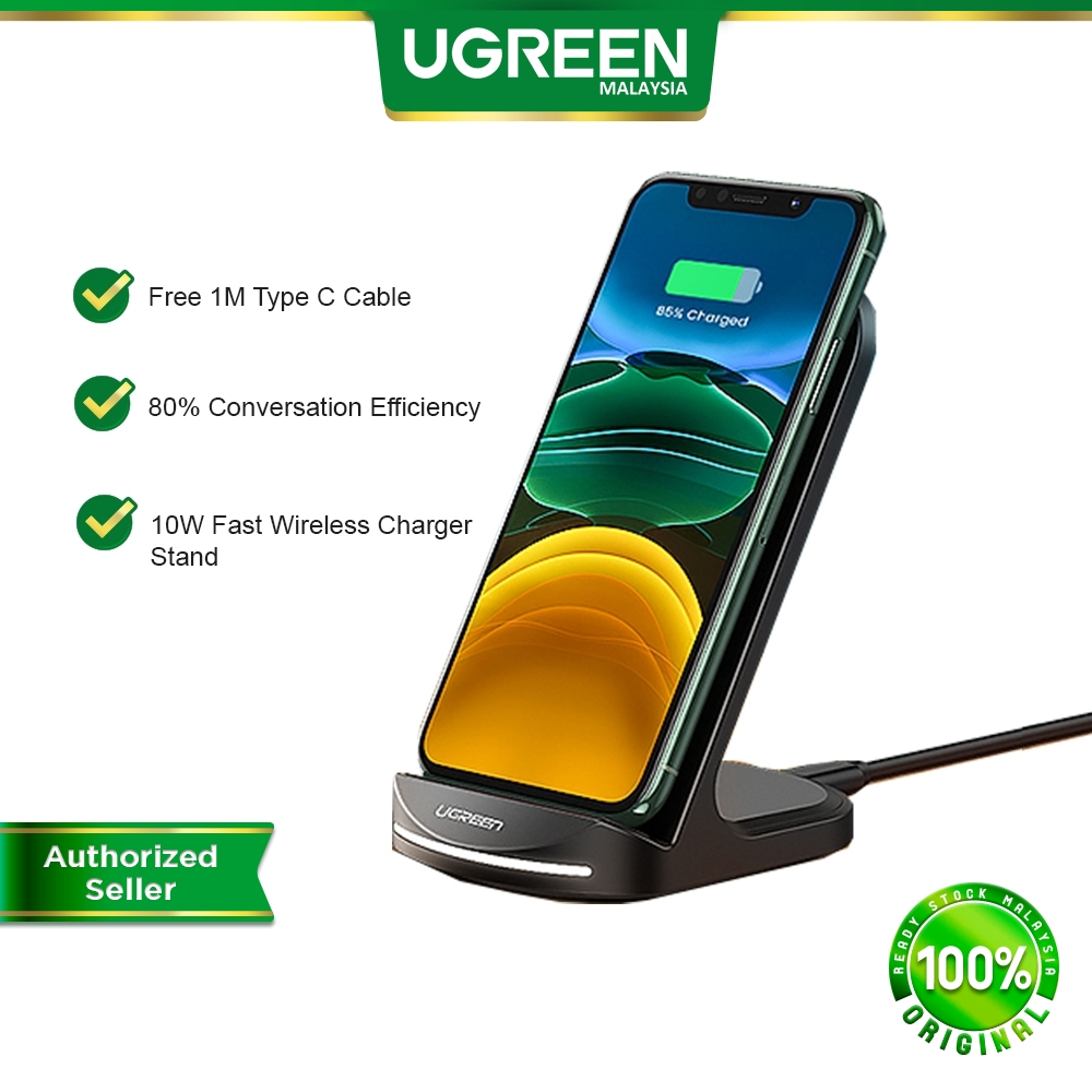 UGREEN 10W Qi Wireless Charger Fast Charging Stand Dock Station Phone Desktop Quick Charge Wireless Charger Stands Docks