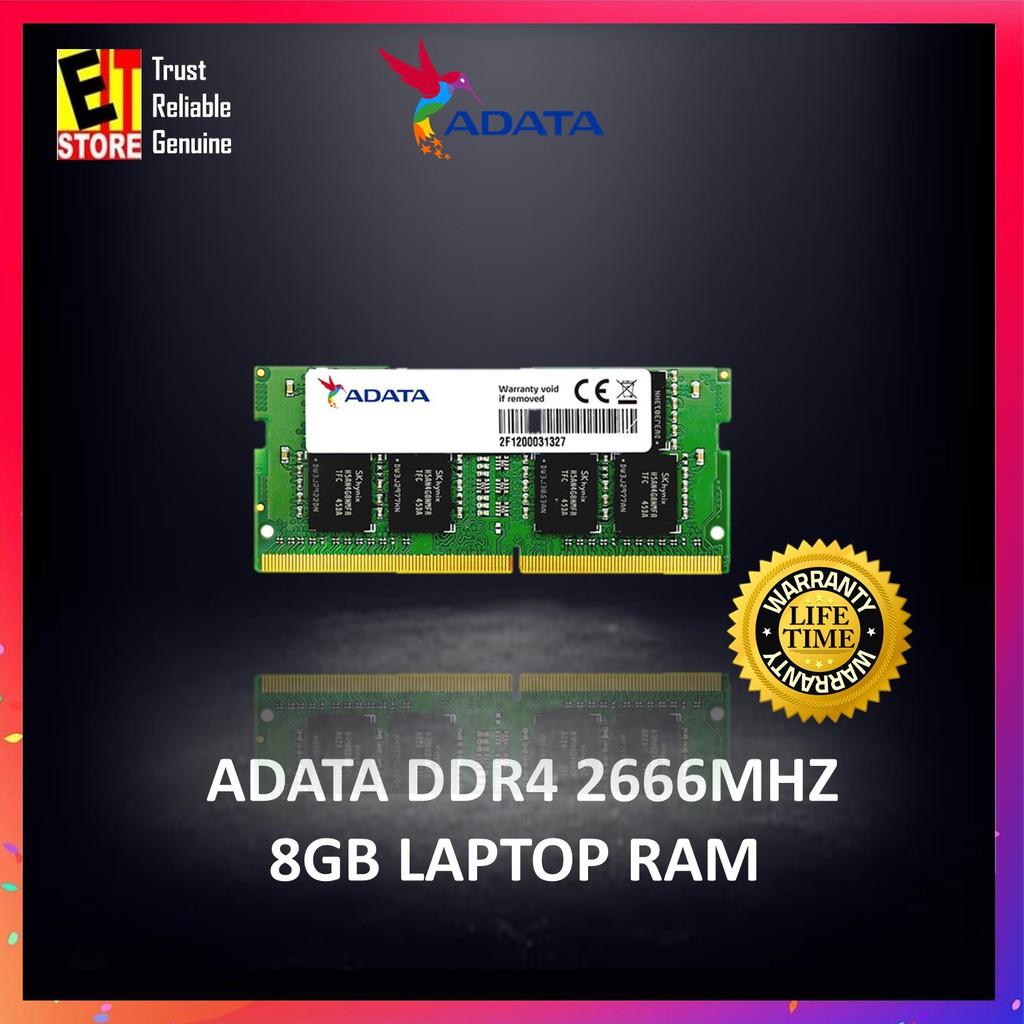 ADATA 8GB DDR4 2666MHz SO-DIMM NOTEBOOK RAM