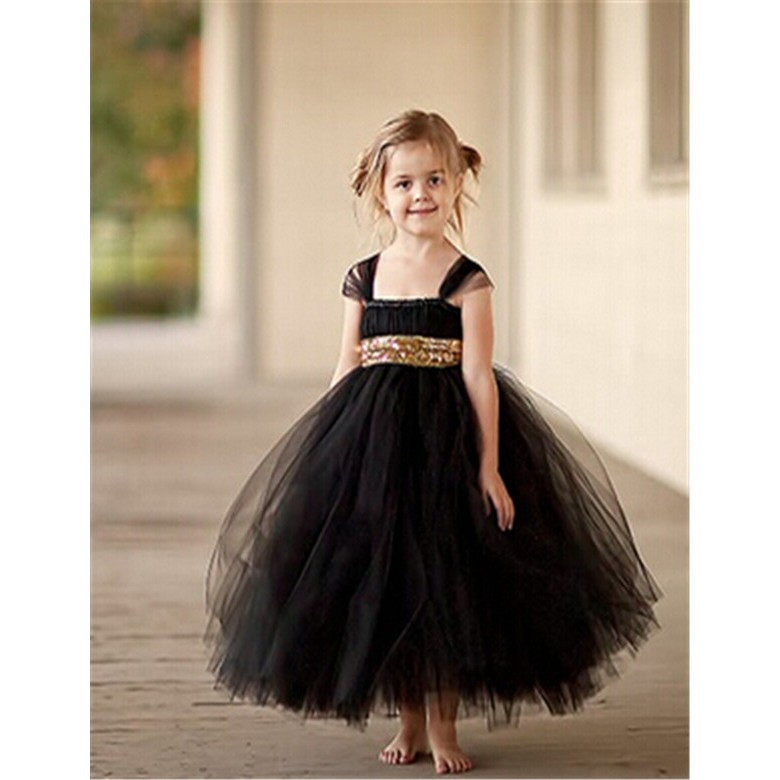 Wedding Sweetheart Neckline Cotton Tutu Flower Girl Dress Tutu Dresses Ball Gown