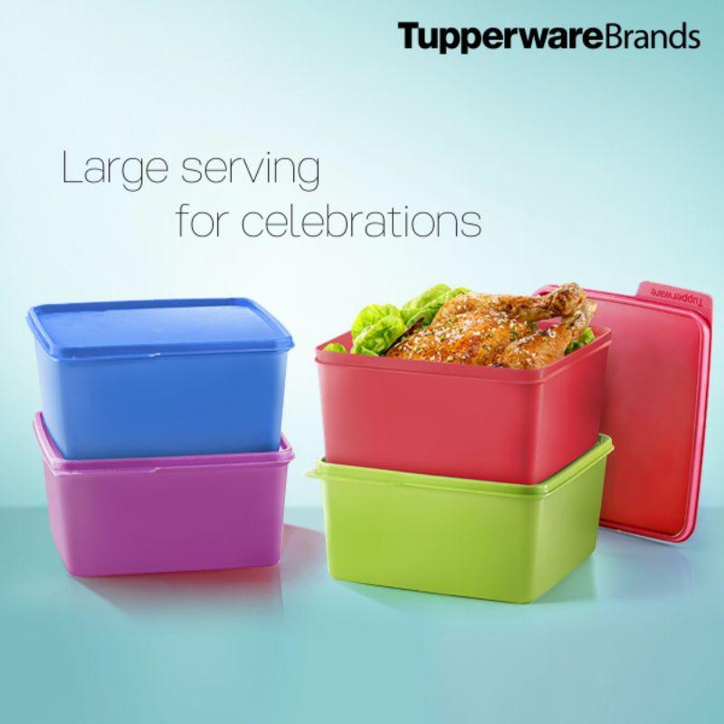[ Ready Stock ] Tupperware Snack & Stack (4 pcs ) 2.5L