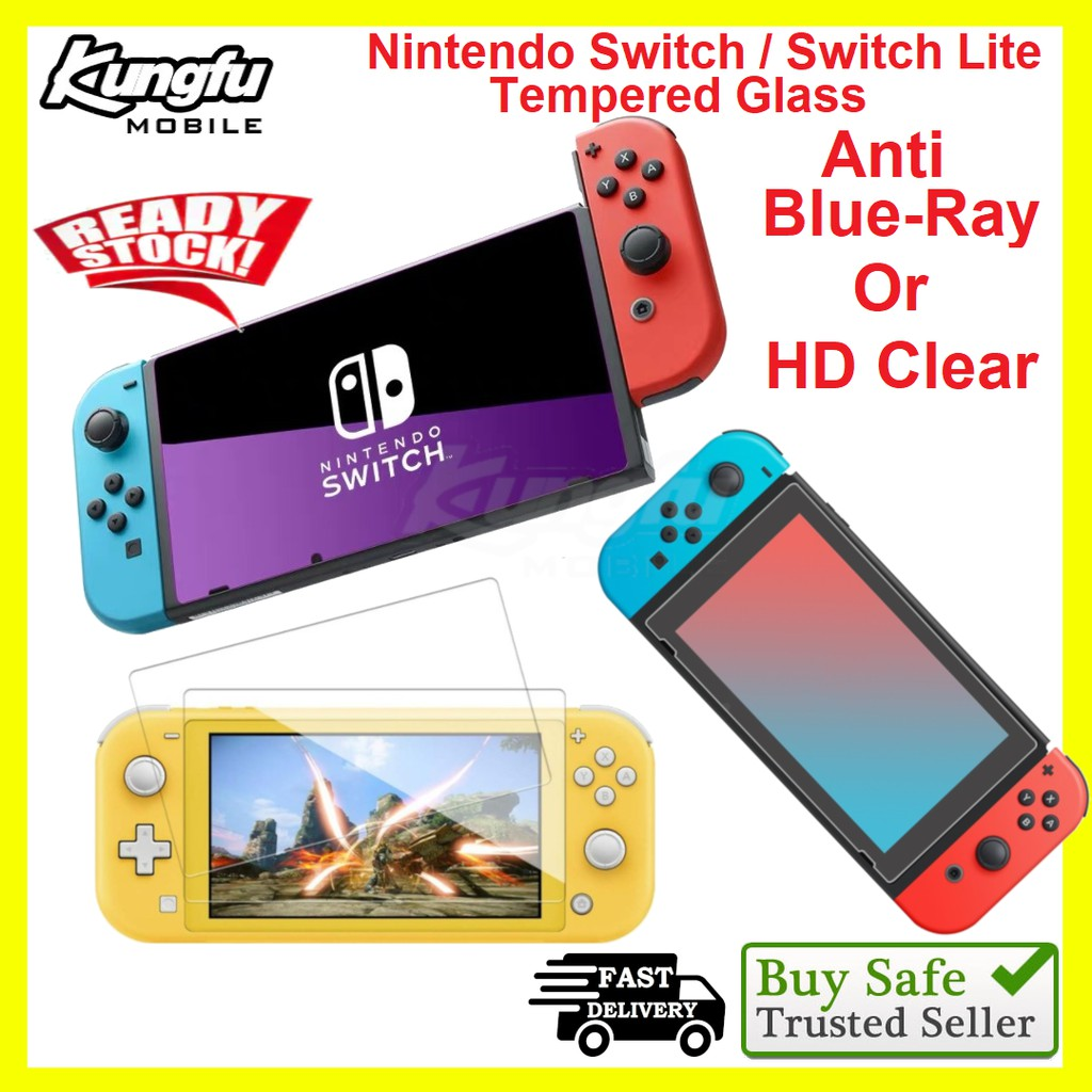 Nintendo Switch / Switch Lite Screen Protector Tempered Glass HD Clear/Anti-Blueray