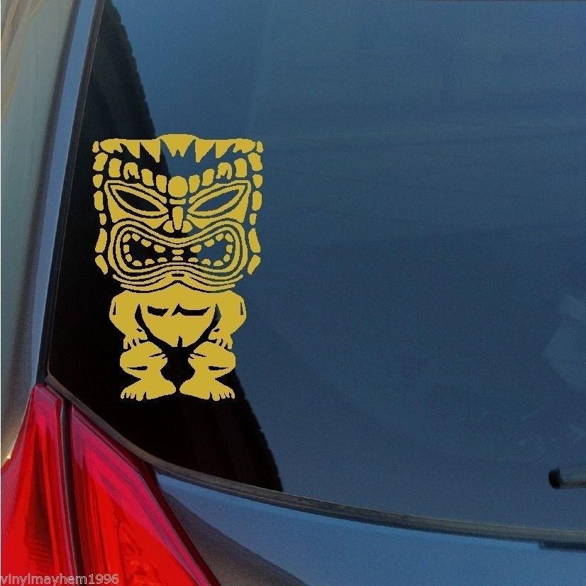 c72102309 ProductImage. ProductImage. Hawaiian Tiki God Vinyl Sticker Decal Maui  Kauai Lei Tribal Polynesian Culture