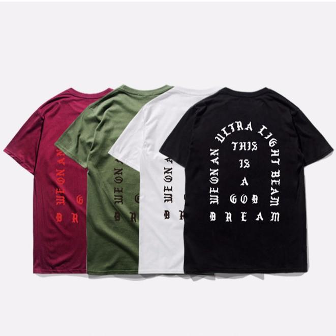 Mens Kanye West I Feel Like PABLO Loose Three Quarter Sleeve T-shirt Shirts