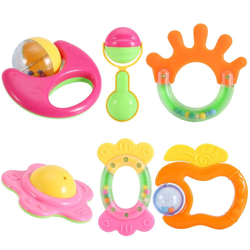 Baby Rattles Hand Shake Bell Gripping Rattle Early Learning Educational Toys