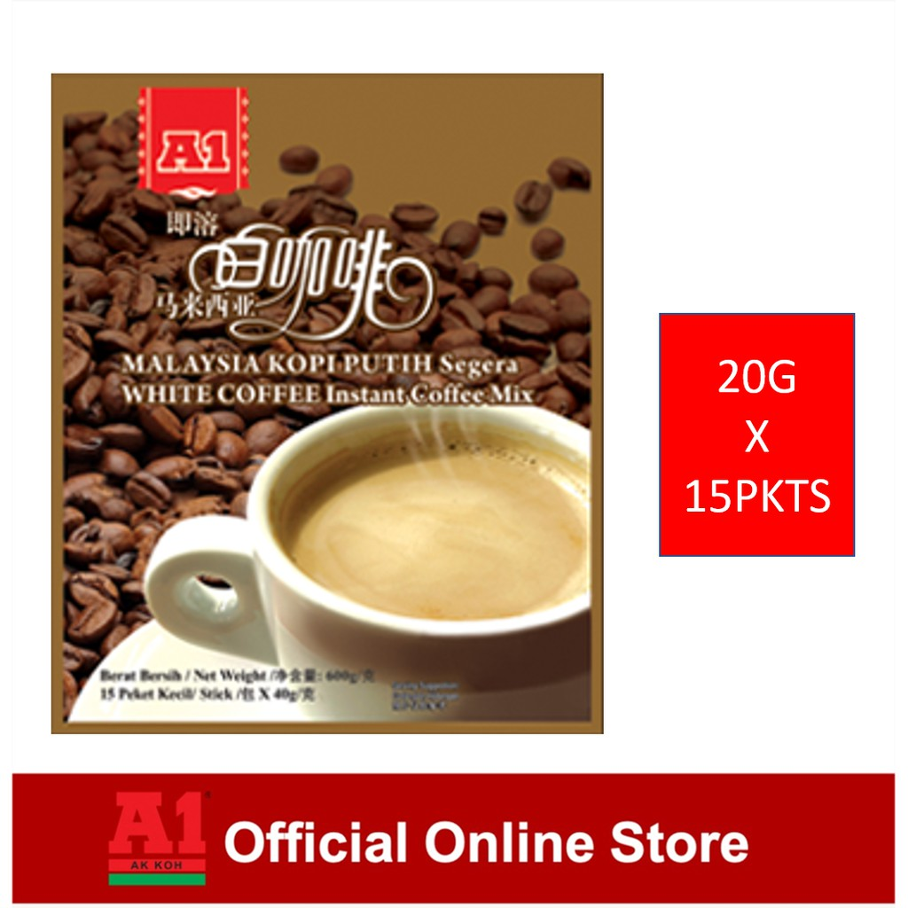 A1 Instant Malaysia White Coffee - 3 In 1 (20g x 15 sachets)