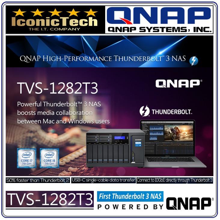 QNAP TVS-1282T3 12 Bay (8+4) i7 Thunderbolt 3 NAS/iSCSI IP-SAN Nas Server