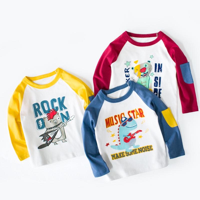 Childrens T-Shirts Dinosaur 95/% Cotton Wear Summer Short Sleeved Round Neck Unisex T-Shirt 2-7 Years Old