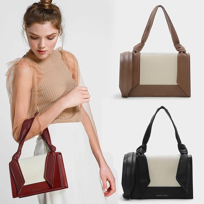 Charles Keith Knotted Strap Handbag