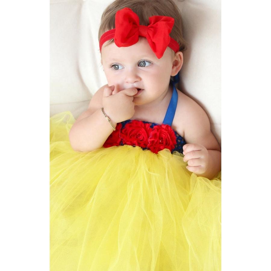 577876d7892b1 Snow White Baby Communion Tutu Dress Wedding Party Toddler First ...