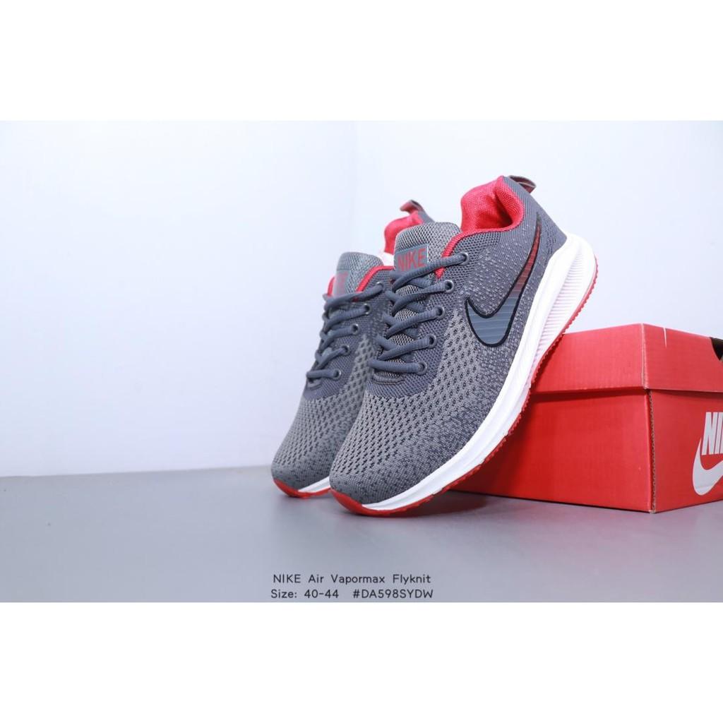 Nublado Goma Cuerpo  Tixs Nike Air Zoom Vapormax Flyknit Gray Woven Breathable Mesh Soft Bottom  Sneakers | Shopee Malaysia