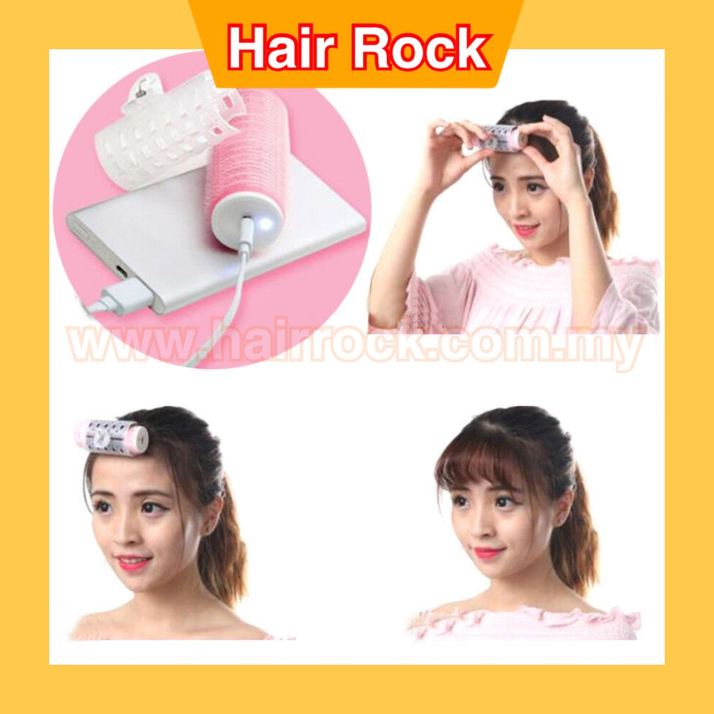 Korean Style USB Charging Hair Curler Clip Curling Iron Roller Wavy Bangs Hairstyle Styling Tool