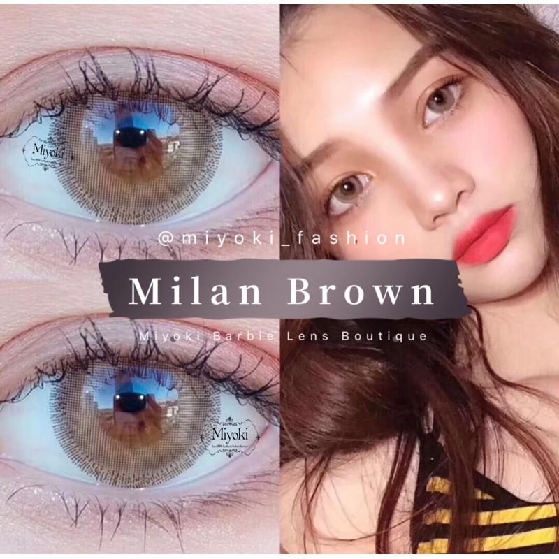 Milan Brown Big Eyes Effect Shopee Malaysia