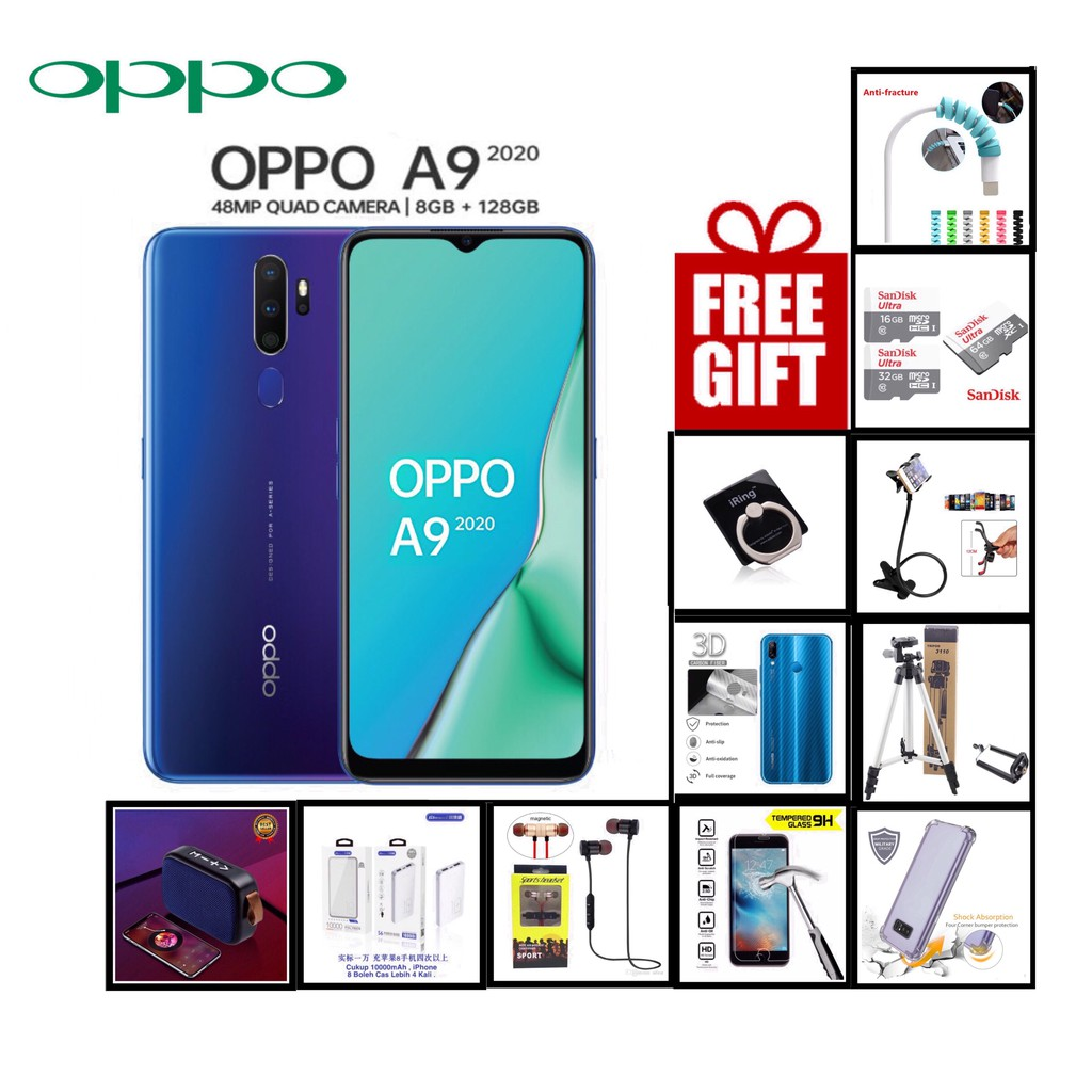 OPPO A9 2020 ( 8GB+128GB ) - Official OPPO Malaysia Set