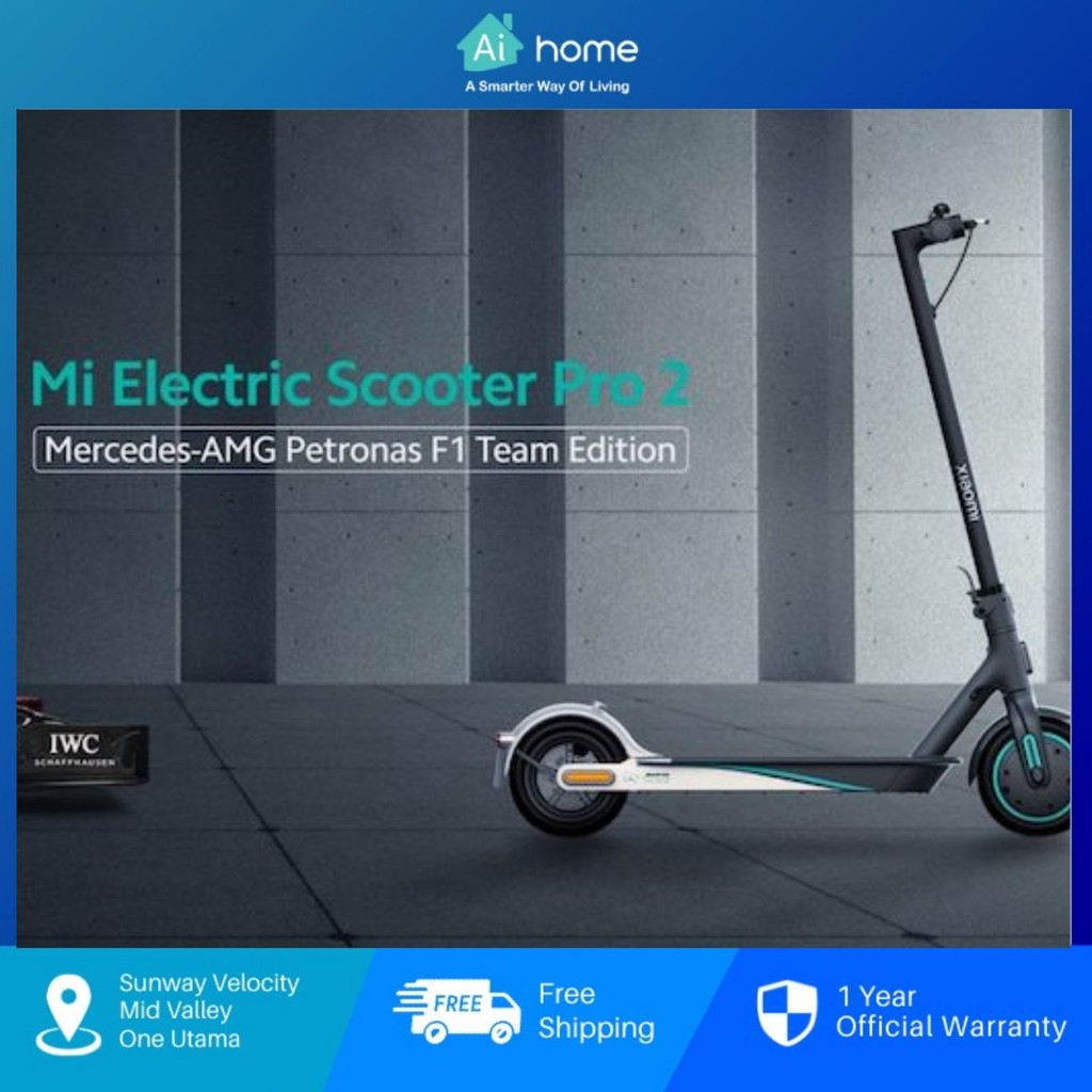 Xiaomi Mi Electric Scooter Pro 2 Mercedes AMG Petronas F1 Team Edition - 300W | 45KM | Double Brake | Quick Folding [ Ai