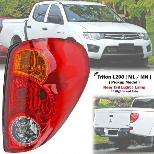 TAIL REAR LED LIGHT LAMP RED SMOKE LENS MITSUBISHI L200 TRITON  ML MN 2005-2014