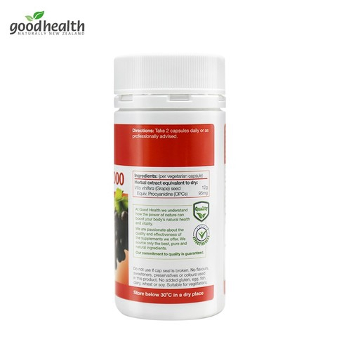 【Ready Stock】 Good Health Grape Seed 好健康葡萄籽精华胶囊 12000mg*150粒