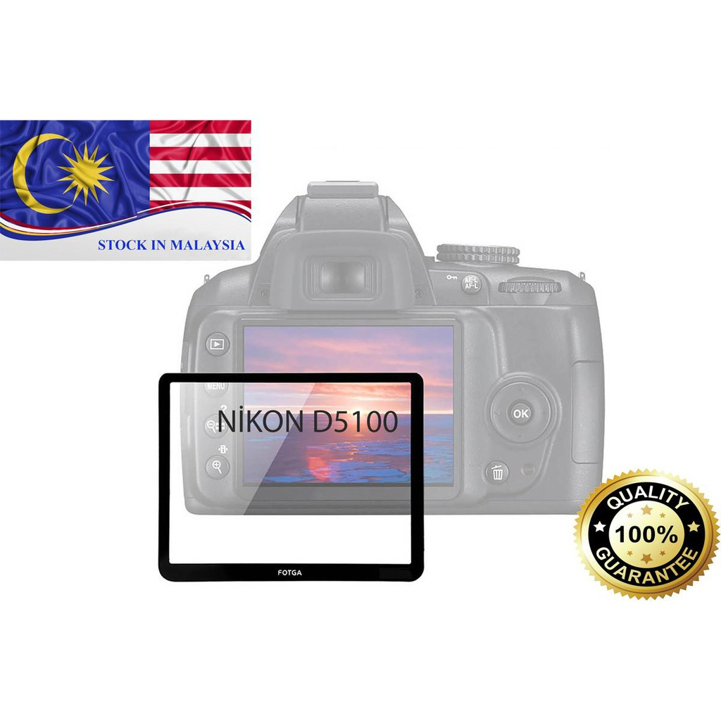 Fotga 0.5mm Premium LCD Screen Panel Protector Glass for Nikon D5100 (Ready Stock In Malaysia)