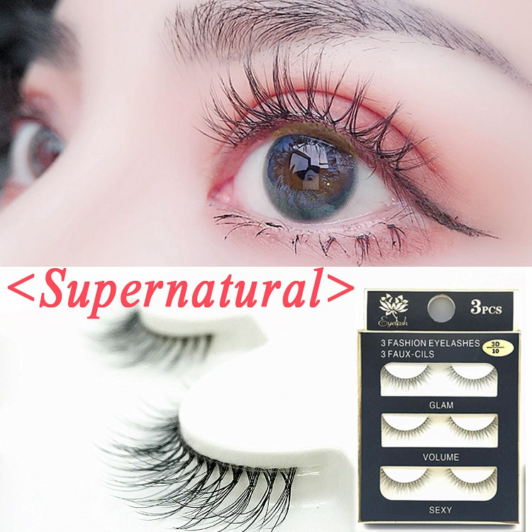 3Pair 3D Pure manual three-dimensional natural false eyelash