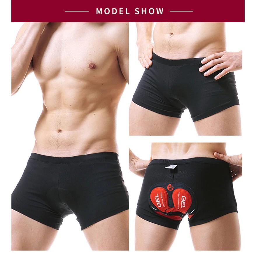 X-Tiger Pro 5D Gel Padded Shockproof Black Underwear Cycling Shorts men underwear