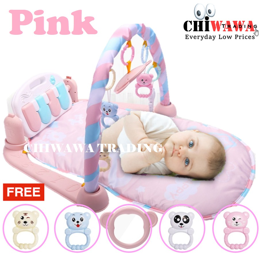 【Free: 1 x Toy Set】Baby Mat Playgym Piano Musical Baby Playmat Crawling Cushion Bedding