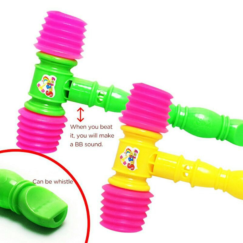 Hammer Toys 25cm For Kids Soft Plastic Toy Sound Tukul Mainan Kanak-Kanak