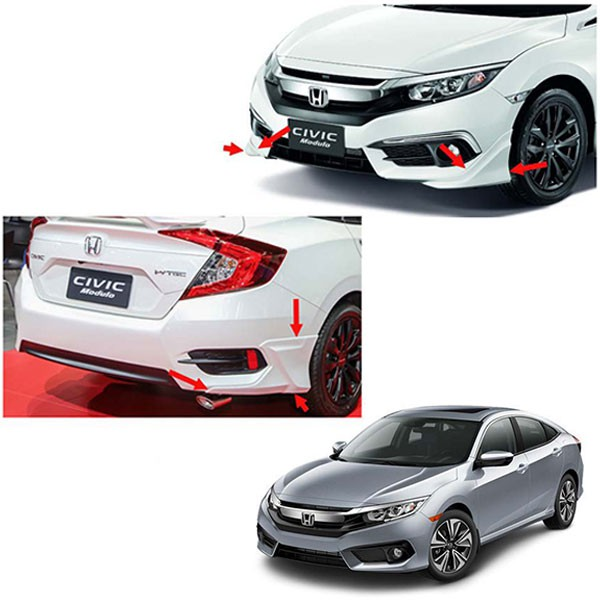 [FREE Gift] [CLEARANCE] HONDA CIVIC FC 2016 - 2020 Front / Rear Side Skirt (White)