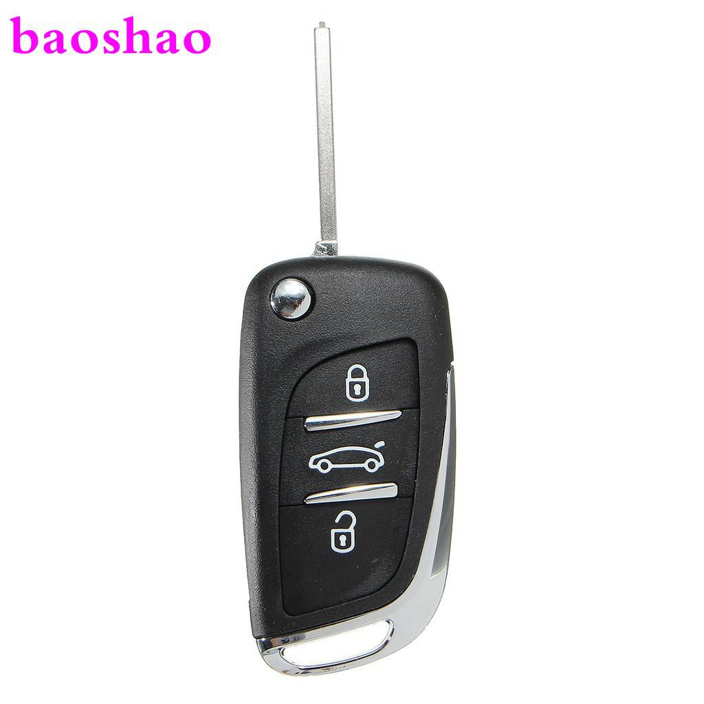 2019 NEW 3 Button Flip Remote Key Case Shell Uncut Blade For Peugeot 107  307 407