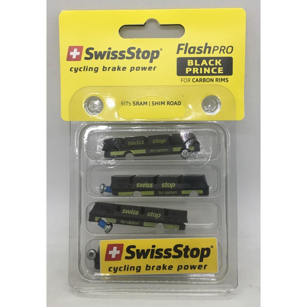Shimano//SRAM//TRP 4pads Swissstop FlashPro Black Prince Carbon Brake Pads