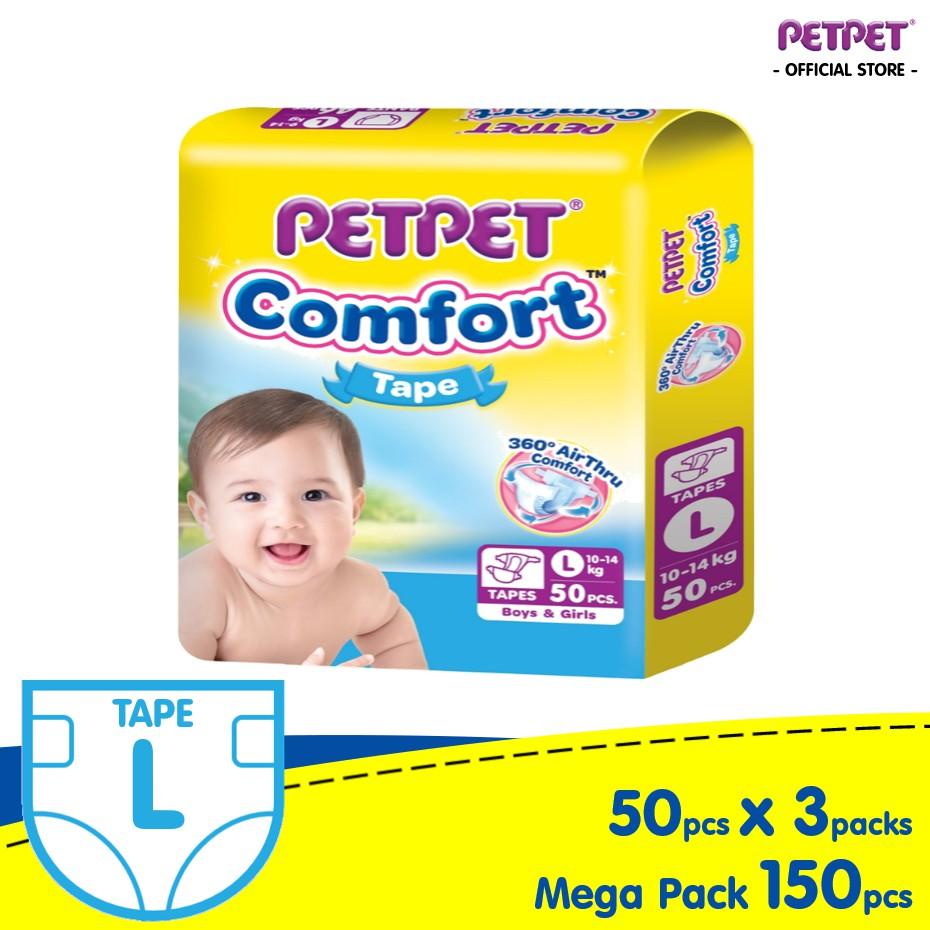 PETPET Comfort Tape MP (3 Packs) M60/L50/XL40