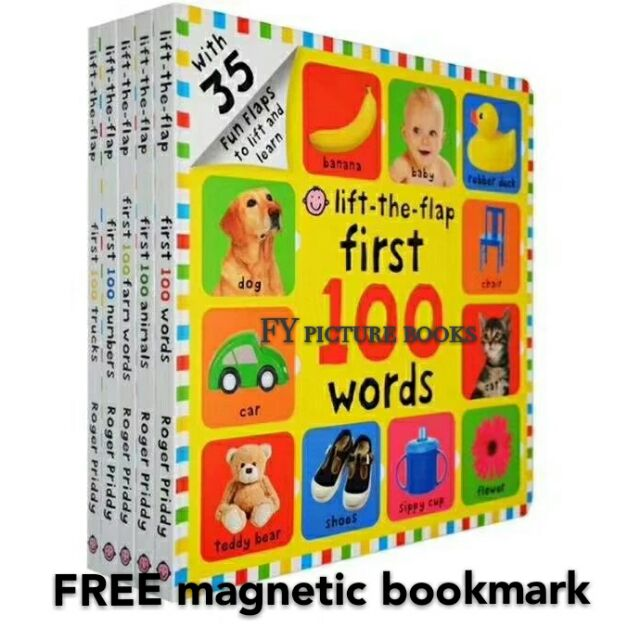 [READY STOCK] lift the flaps first 100 words (set of 5 books)