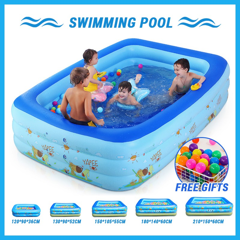 Freeship Inflatable Swimming Pool Home Insulation Indoor Outdoor Paddling Pool Shopee Malaysia